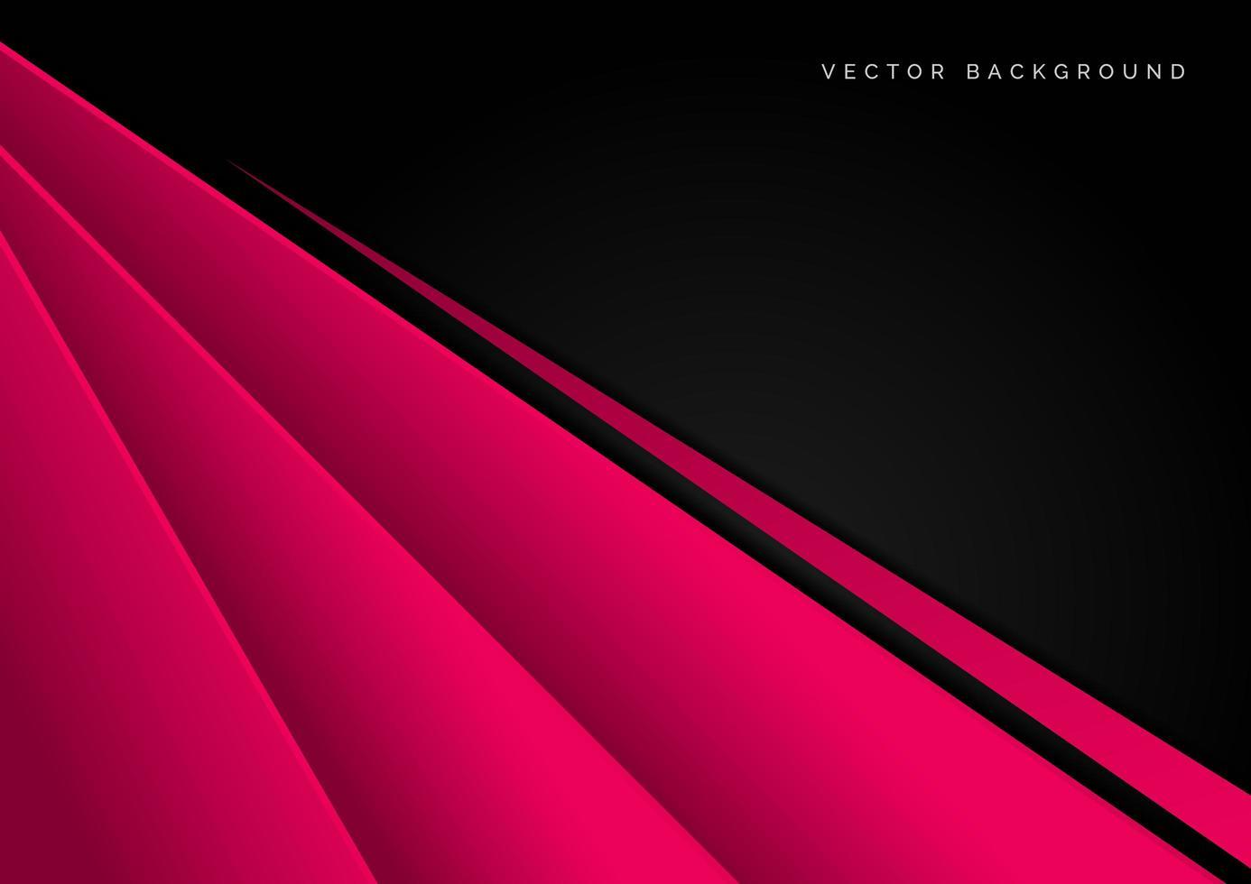 abstrakt mall design med rosa och svarta element vektor