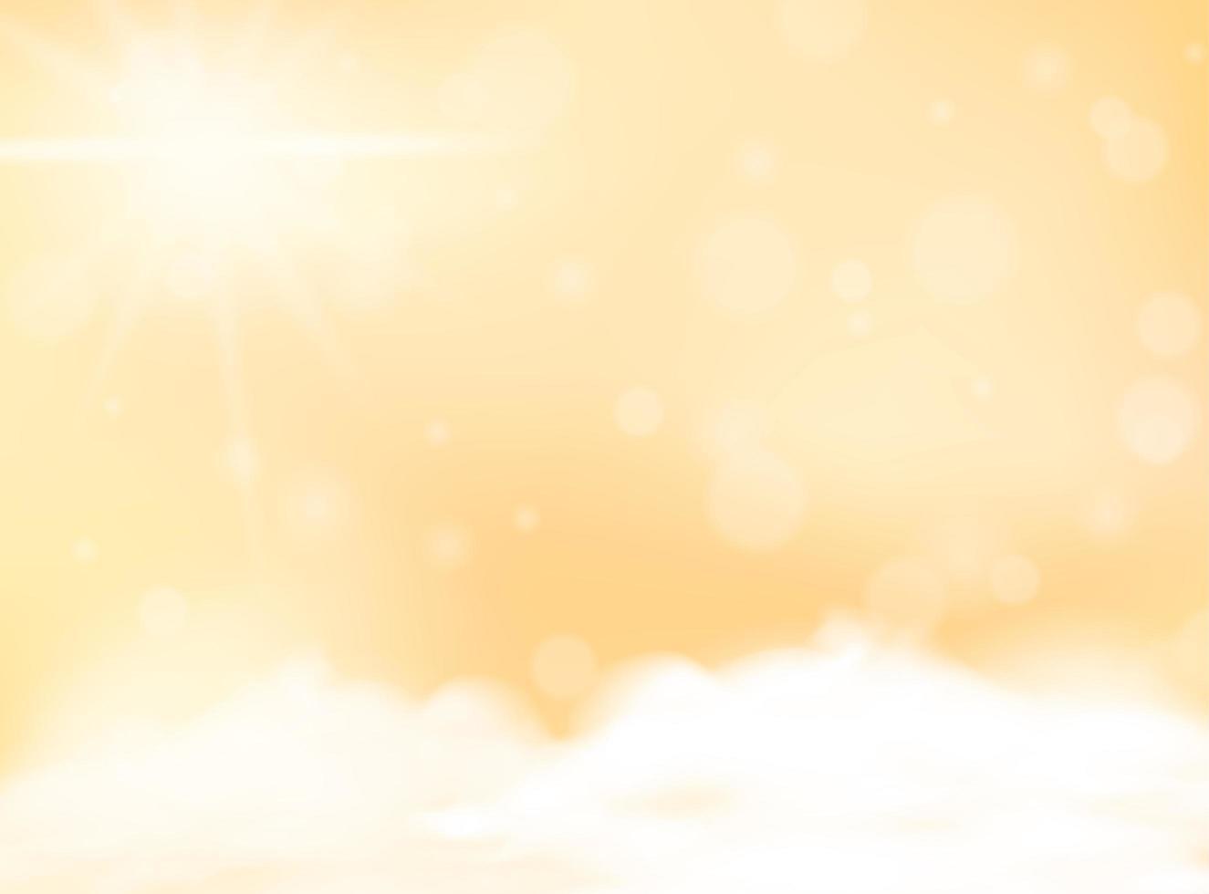gul pastellfärg suddig bakgrund tom mall vektor