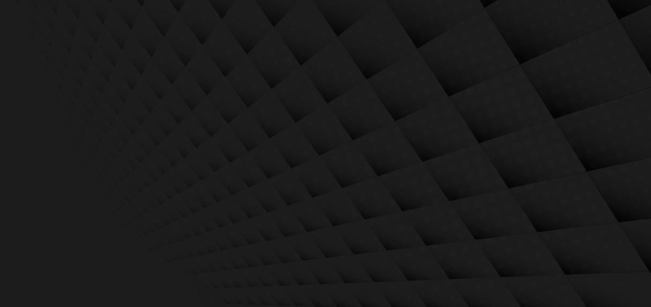 abstraktes geometrisches schwarzes Quadratmuster vektor