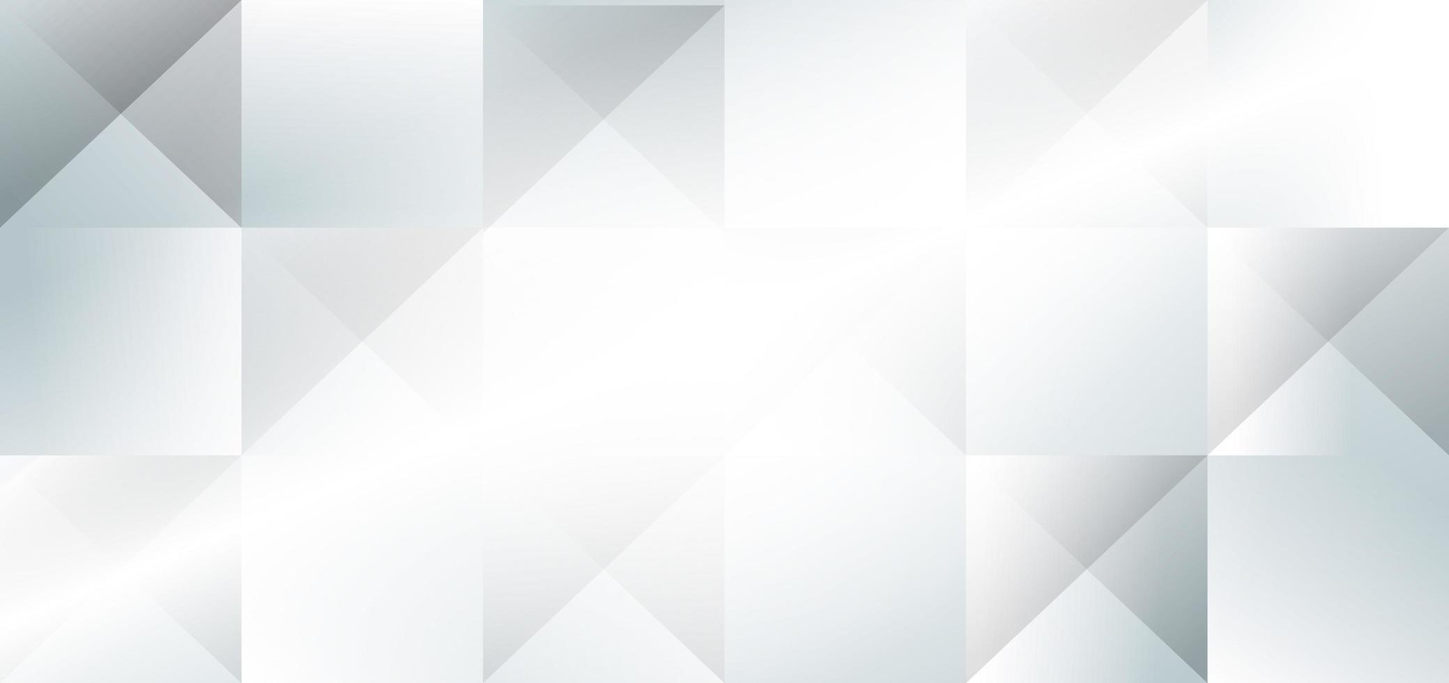 abstrakt banner med vita och grå geometriska element vektor