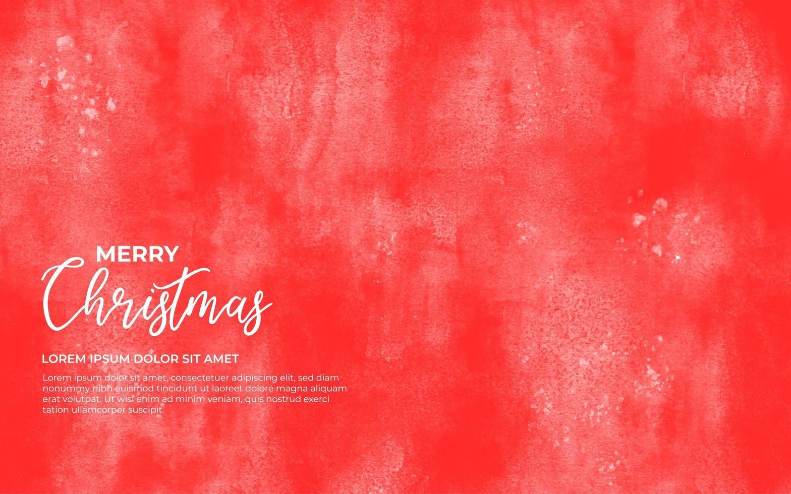 röd akvarell bakgrund för jul vektor