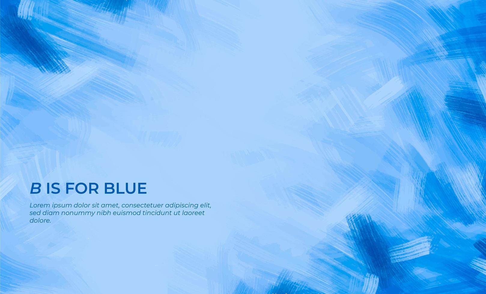 blå penseldrag bakgrund vektor