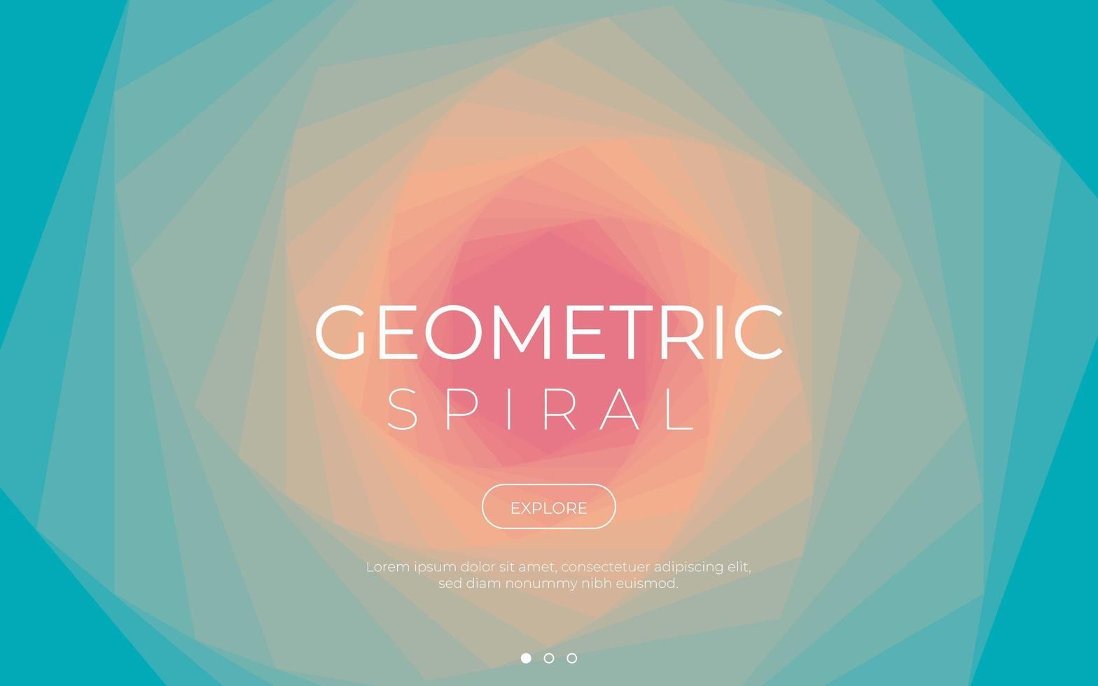 färgglada geometriska spiral bakgrund vektor