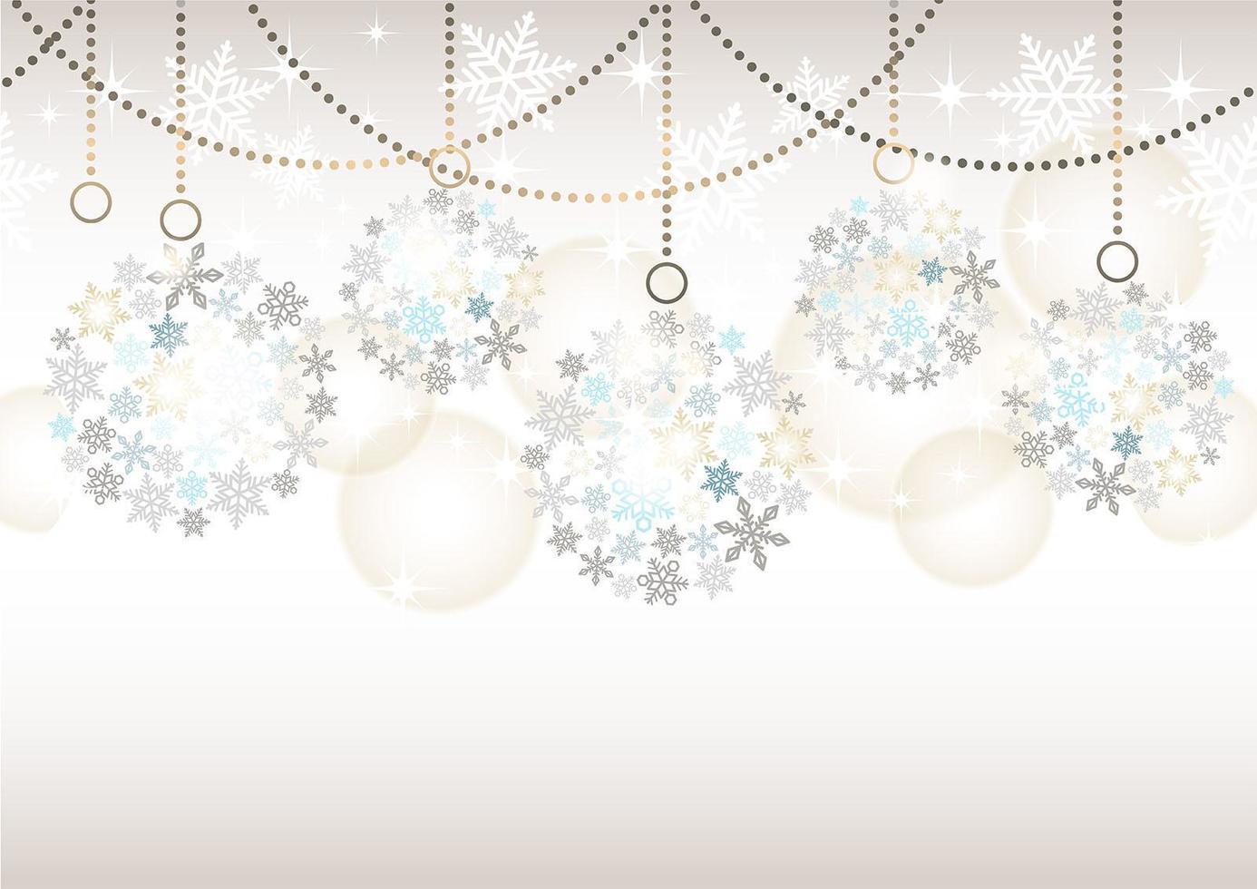 sömlös abstrakt bakgrund med julbollprydnader på en grå bakgrund. vektor
