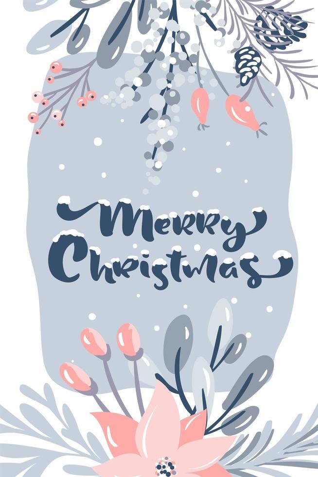 Frohe Weihnachten Grußkarte Design vektor