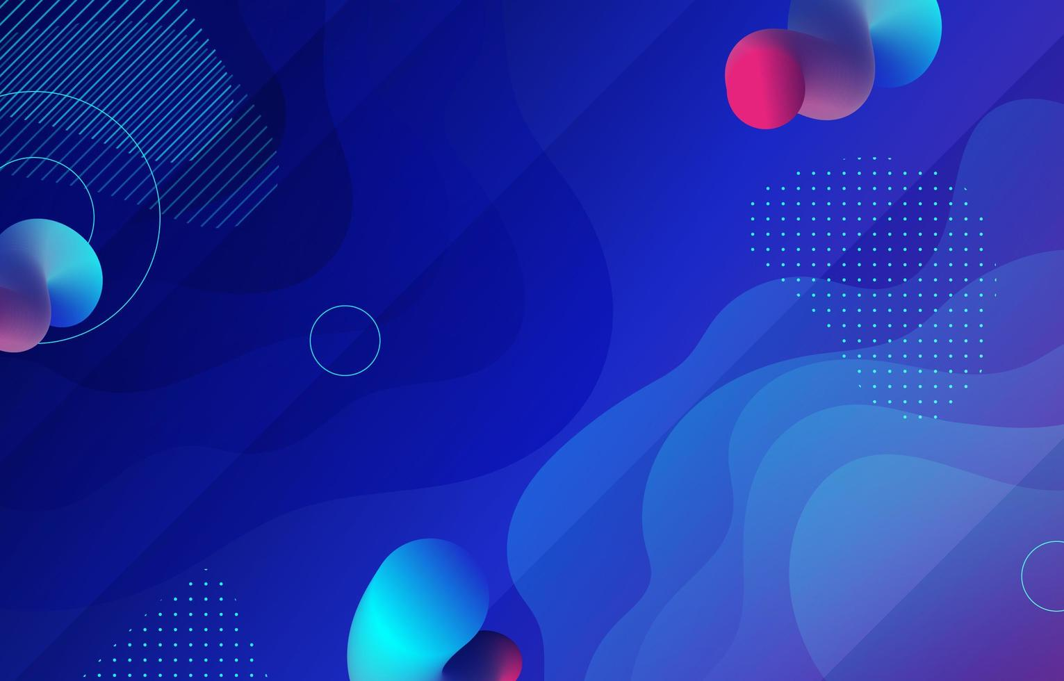 modern flytande blå bakgrund vektor