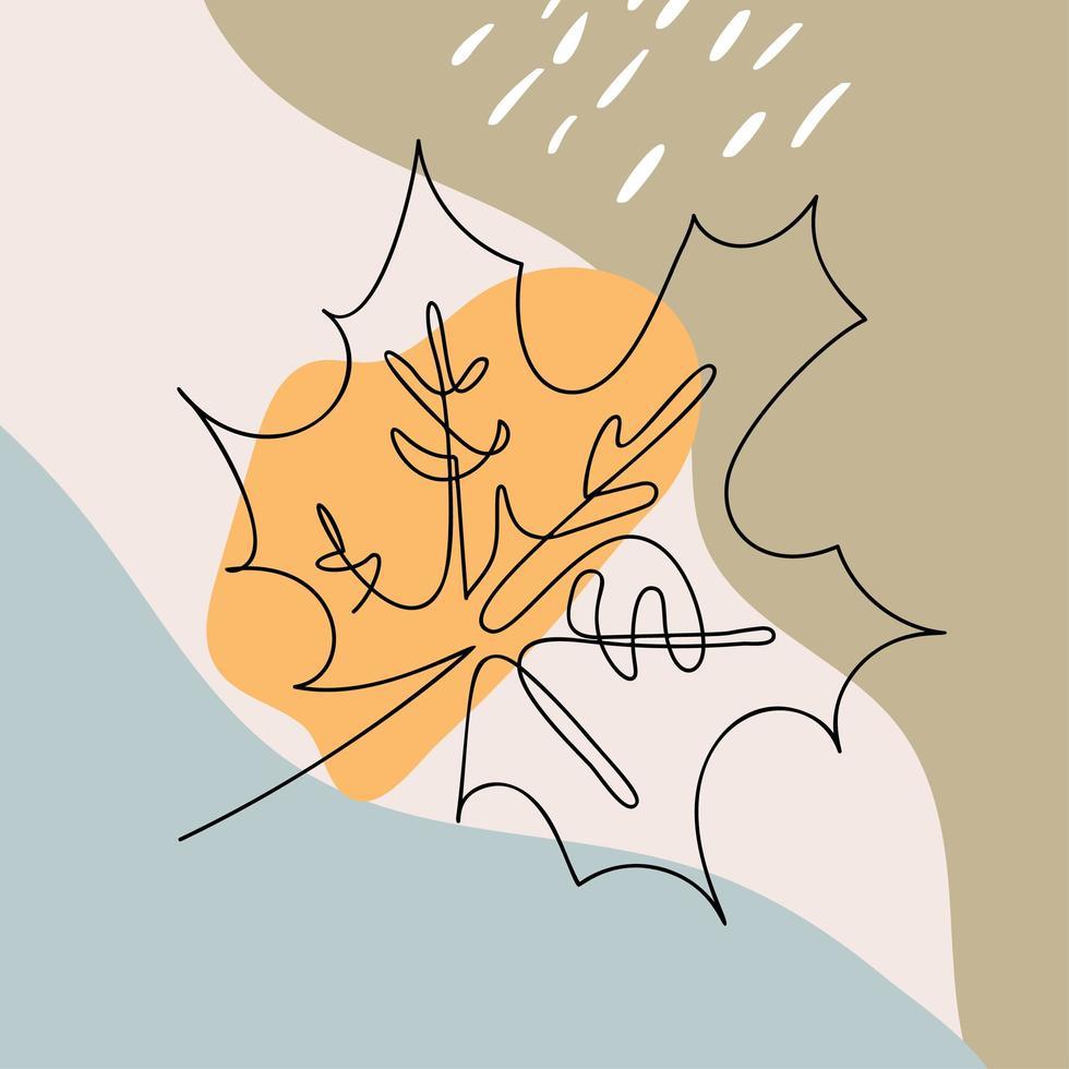 monolin lönn-träd blad emblem vektor