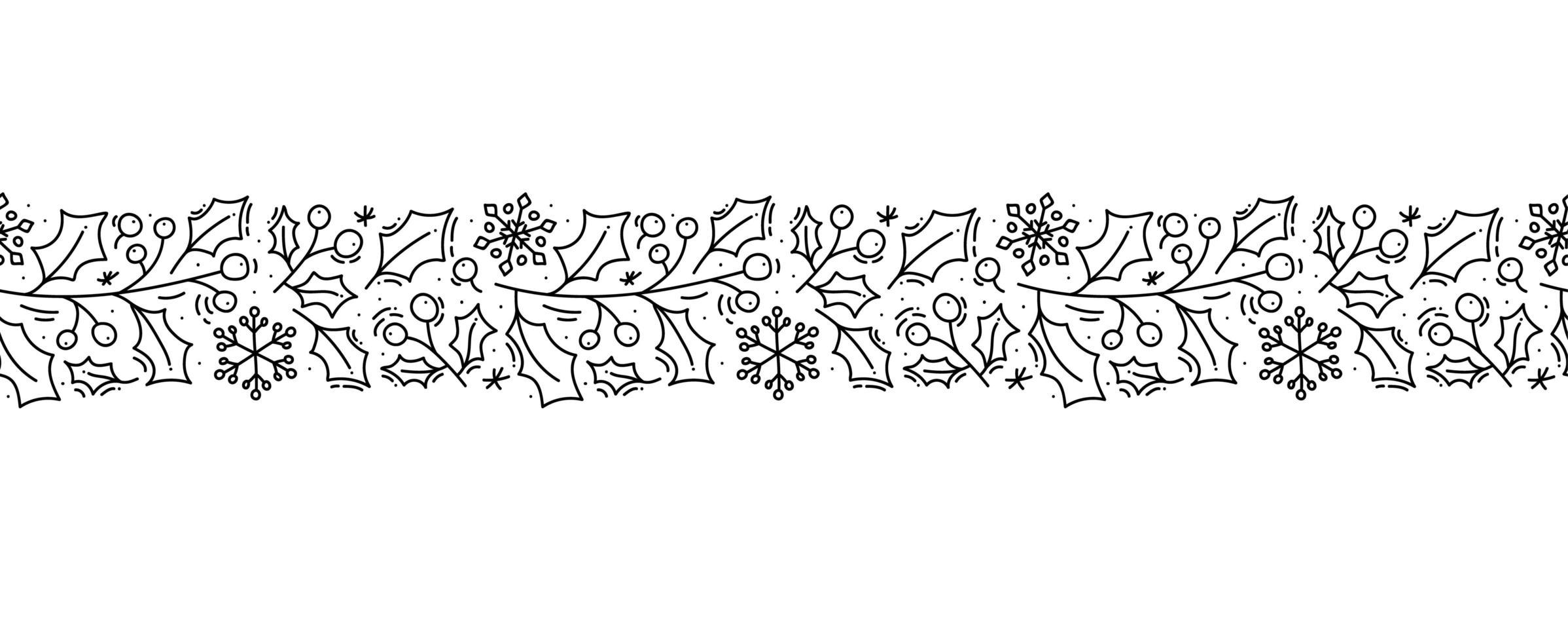 Skandinavisches nahtloses Muster der Weihnachtsmonoline vektor
