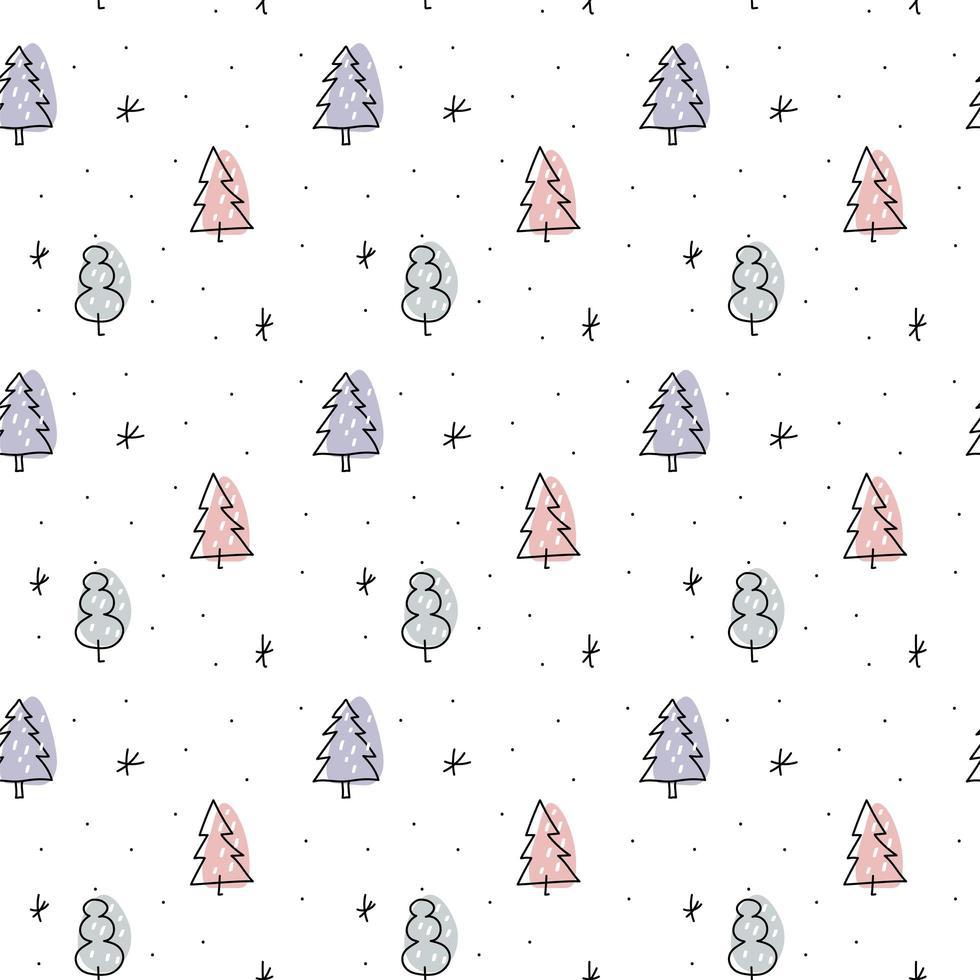 jul minimalistisk monoline skandinaviskt sömlöst mönster vektor