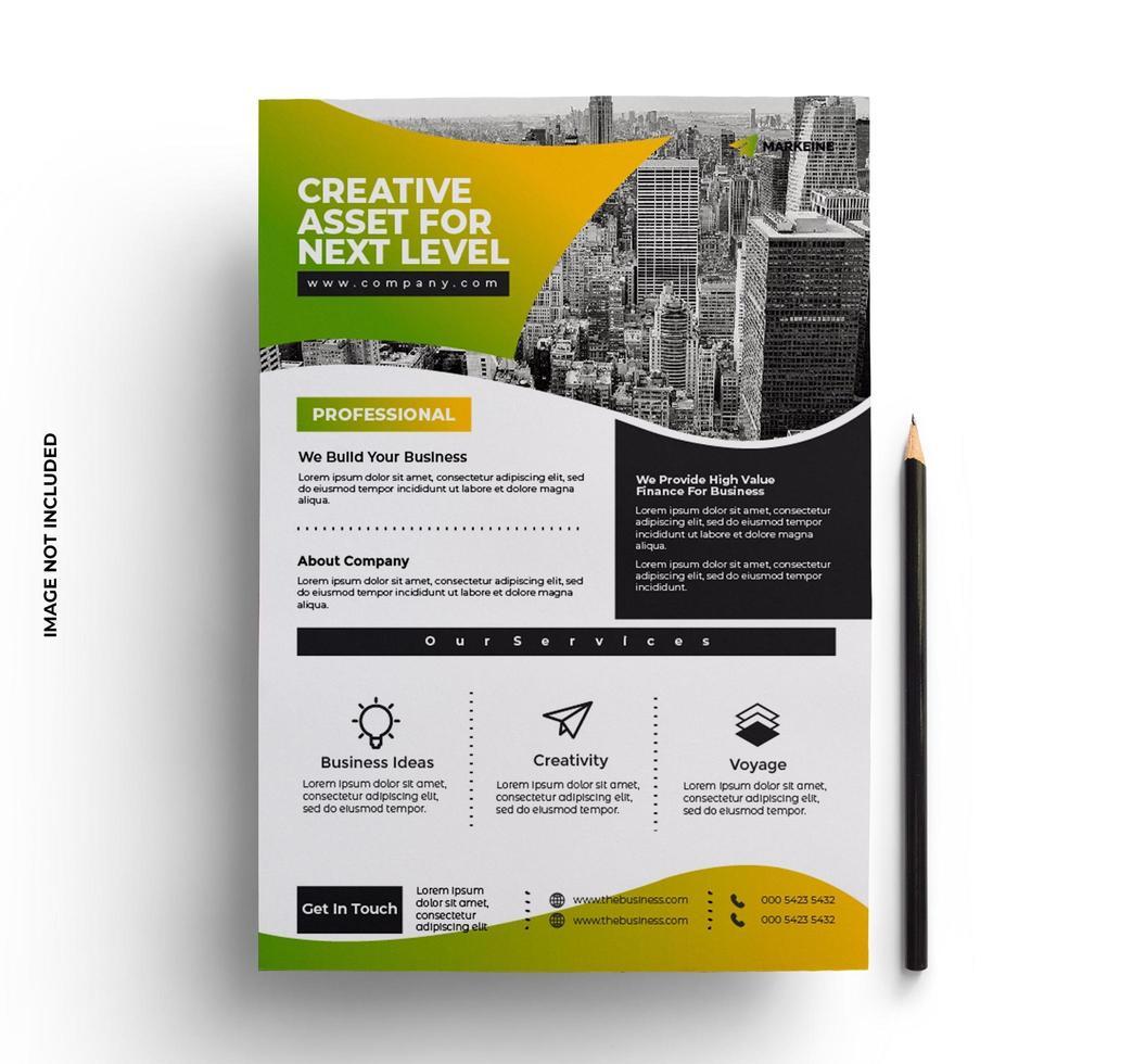 broschyr flygblad design företag i a4 storlek vektor