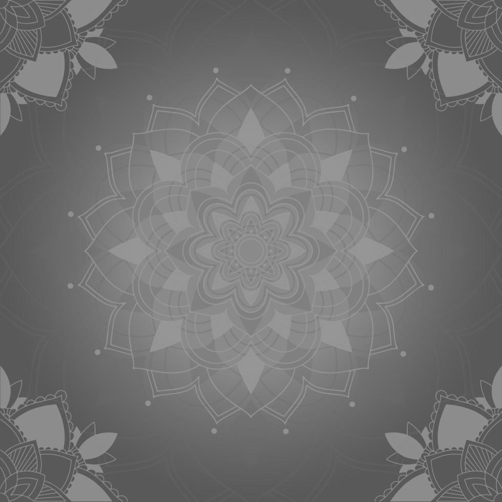 grå mandala konst bakgrund vektor