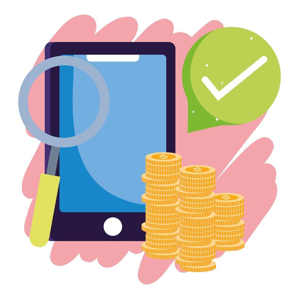 onlinebetalning och e-handelssammansättning vektor