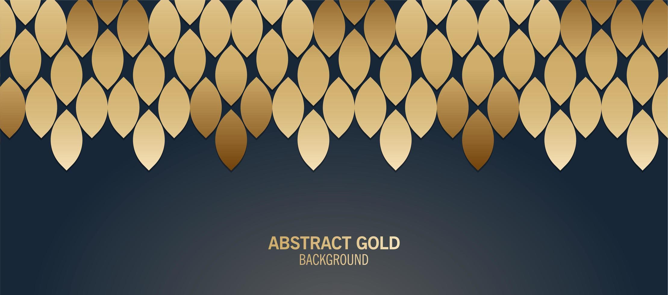 elegant blått och guld abstrakt mönster vektor