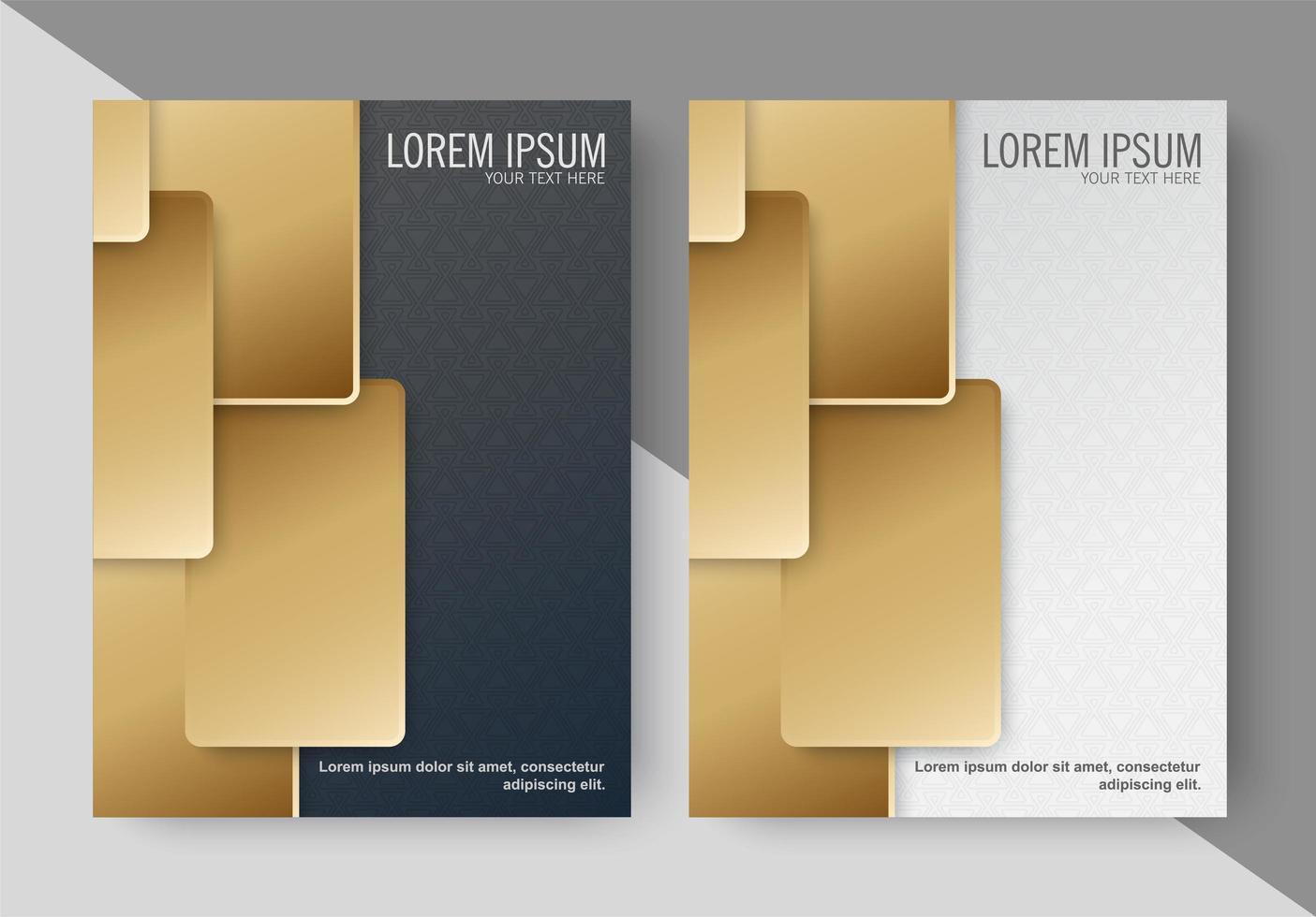 moderna gyllene abstrakta omslag vektor