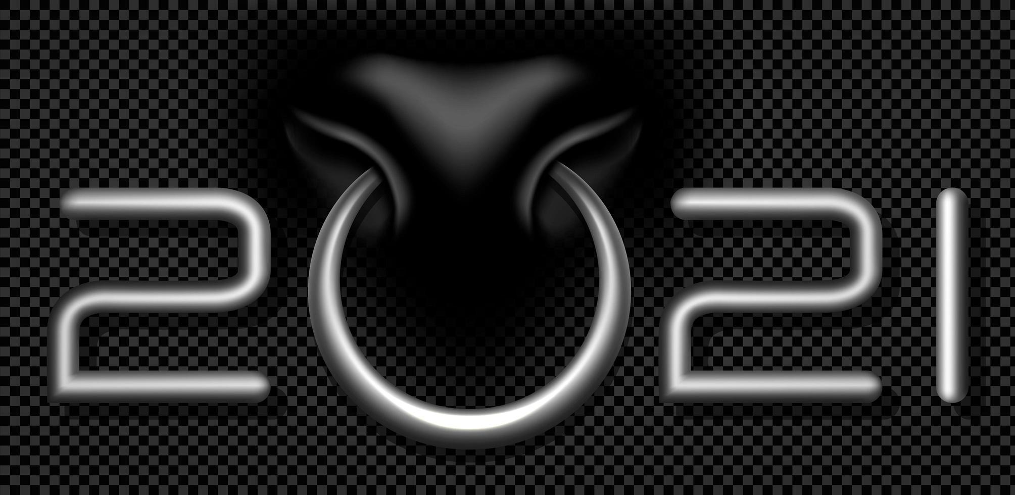 tjurring 2021 silver typografi design vektor