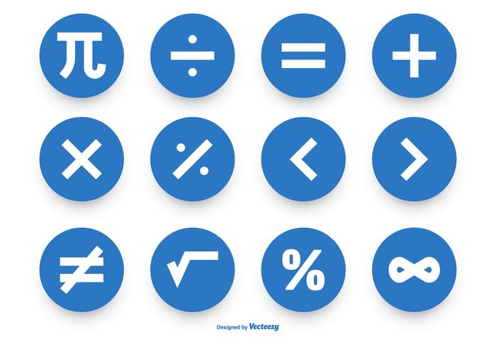 Math Symbol Vector Icon Collection