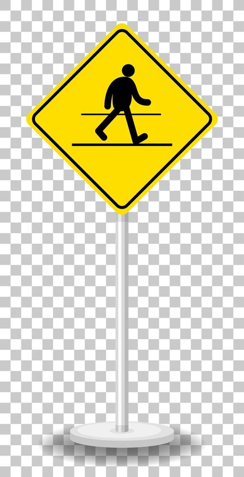 gul trafik varningsskylt isolerad vektor