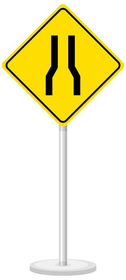 gul trafik varningsskylt vektor
