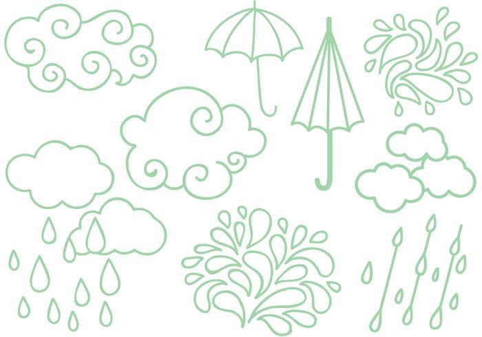 Gratis regnperioden vektorer