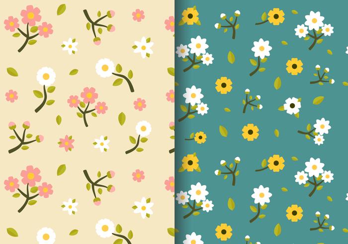 Freie Weinlese-Frühlings-Blumenmuster vektor