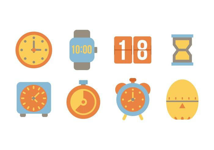 Freie Wohnung Zeit Icons Vector
