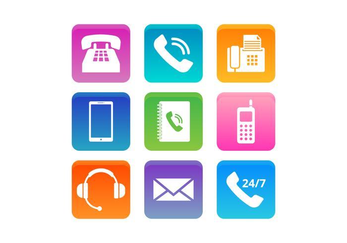 Kostenloses Telefon und Kommunikation Vektor-Icons vektor