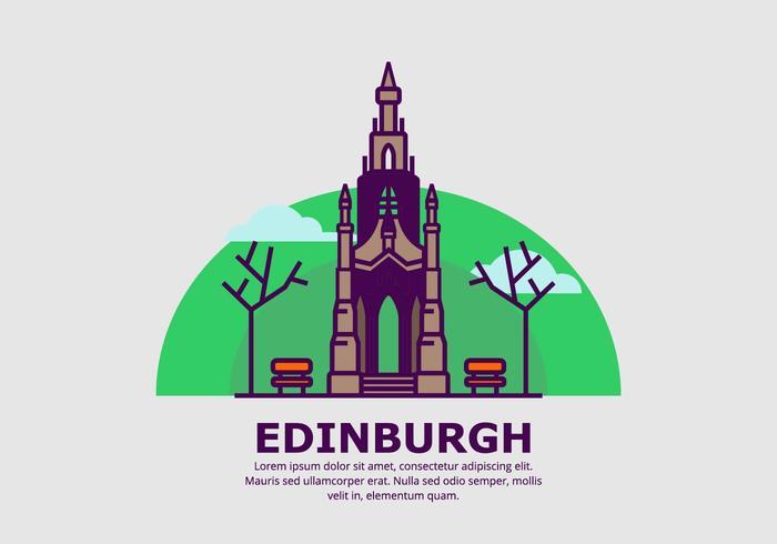 Edinburgh Hintergrund vektor