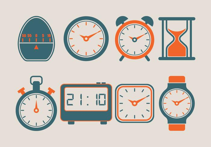 Timer Vector Icons Collection