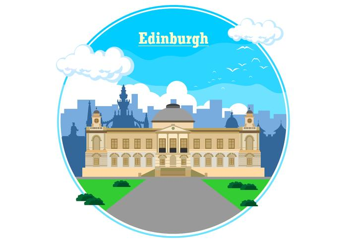 Ein Tag in Edinburgh Vektor