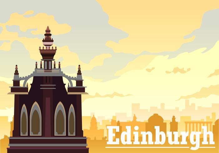 Gratis Edinburgh på eftermiddagen Vector