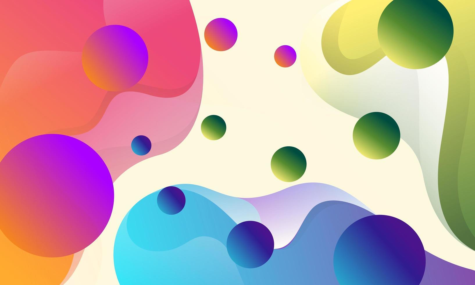 abstrakter bunter Fluss formt Hintergrund vektor