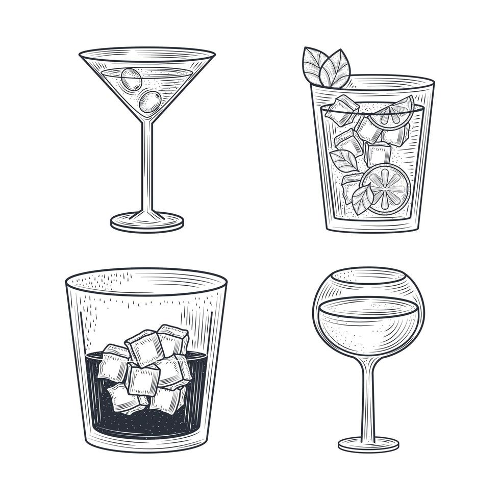 cocktaildrinker konstkomposition vektor