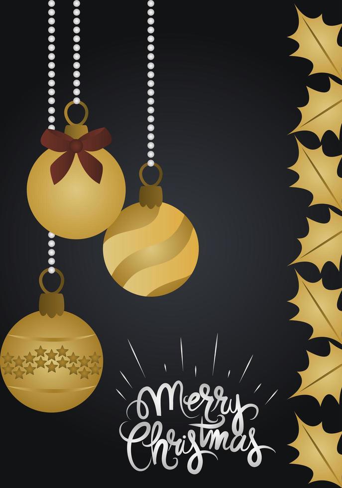 Deluxe Weihnachtsgrußkarte vektor