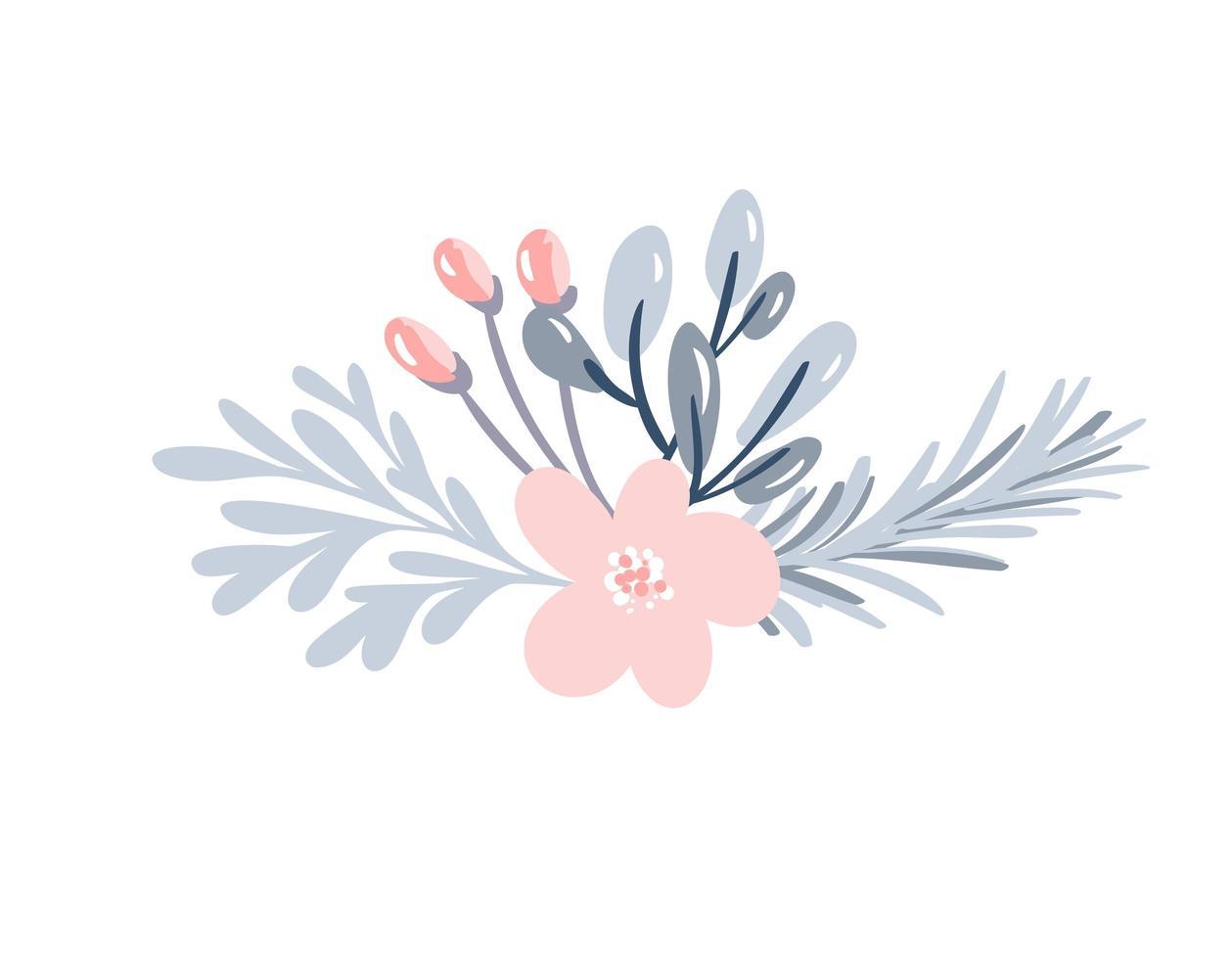 Weihnachtsblumenstrauß mit Beeren vektor