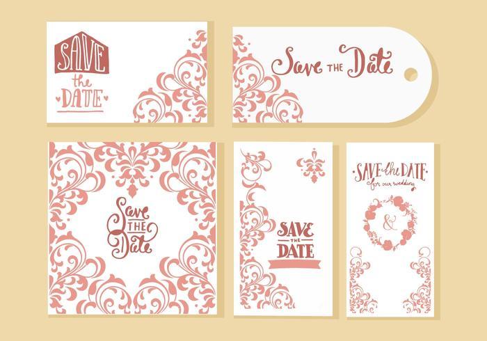 Freie Hochzeit Einladungskarten Vektor