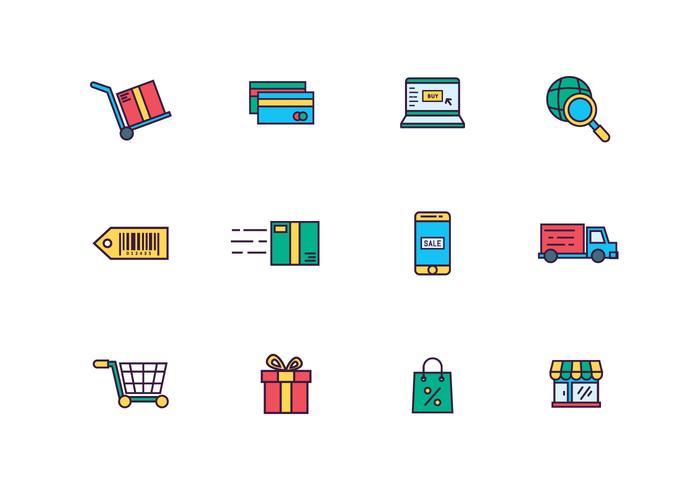 E-Commerce-Ikonen vektor