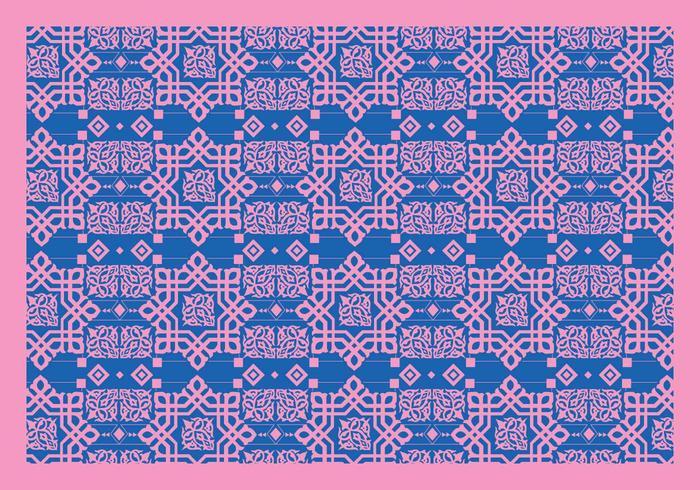 Islamiska Ornament Rosa vektor