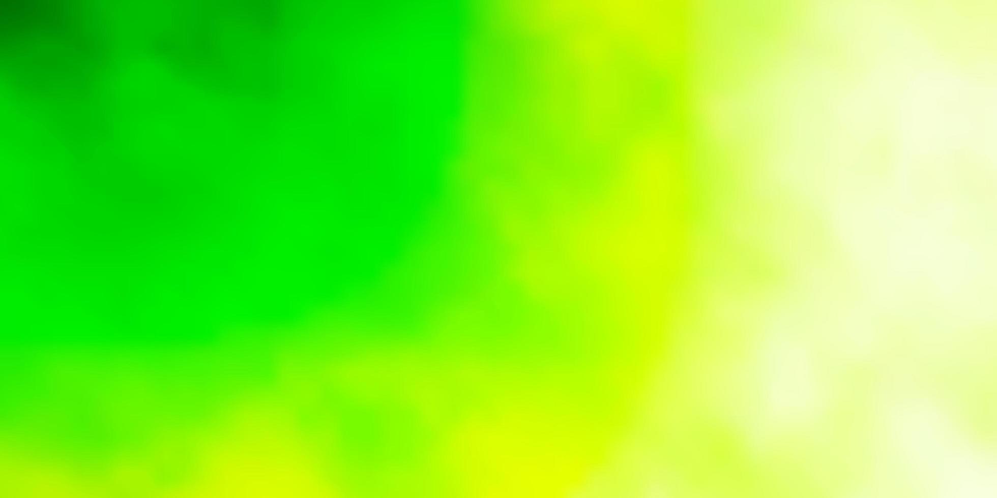 hellgrünes Layout mit Wolkenlandschaft. vektor