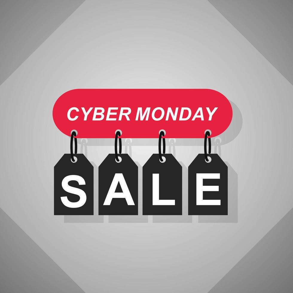 cyber måndag försäljning banner vektor