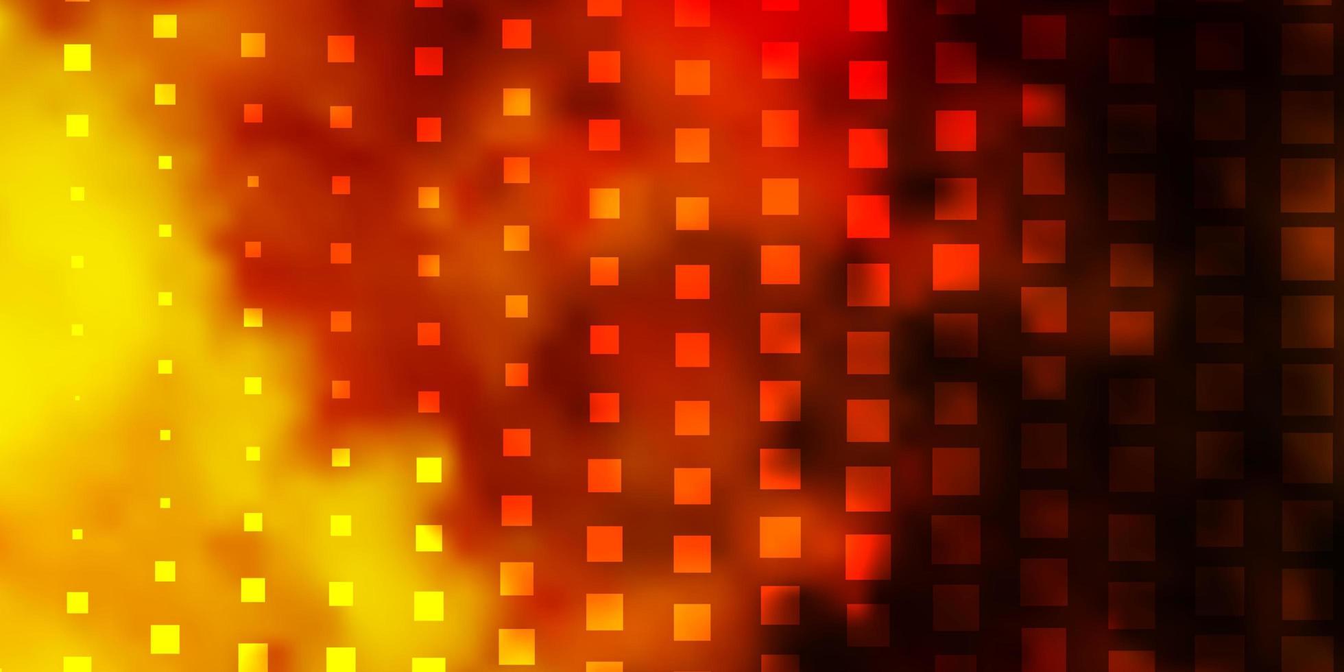 dunkelgelber Hintergrund mit Quadraten. vektor