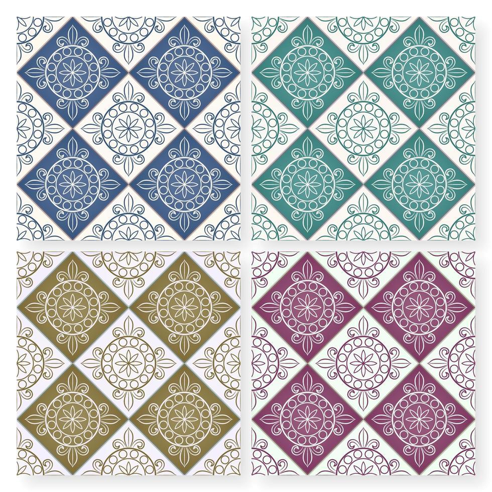 sömlös flerfärgad marockansk lapptäcke kakel mönster vektor
