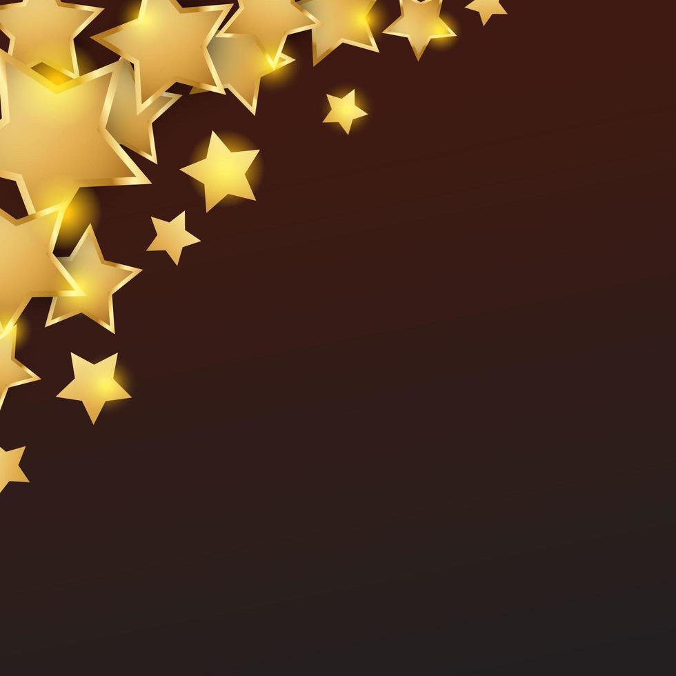 goldener Stern Hintergrund vektor
