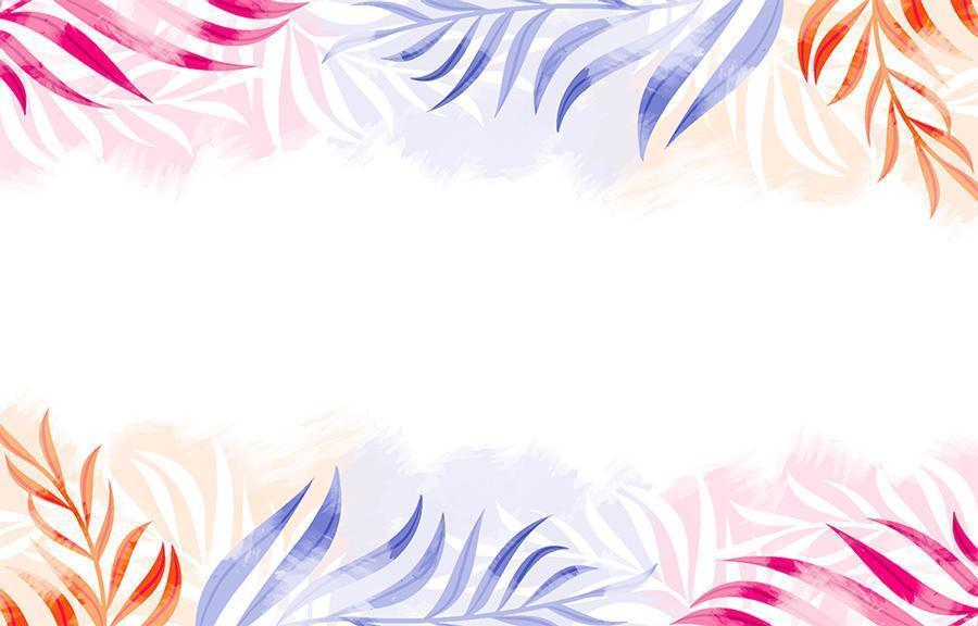 akvarell bakgrund med färgglada löv vektor