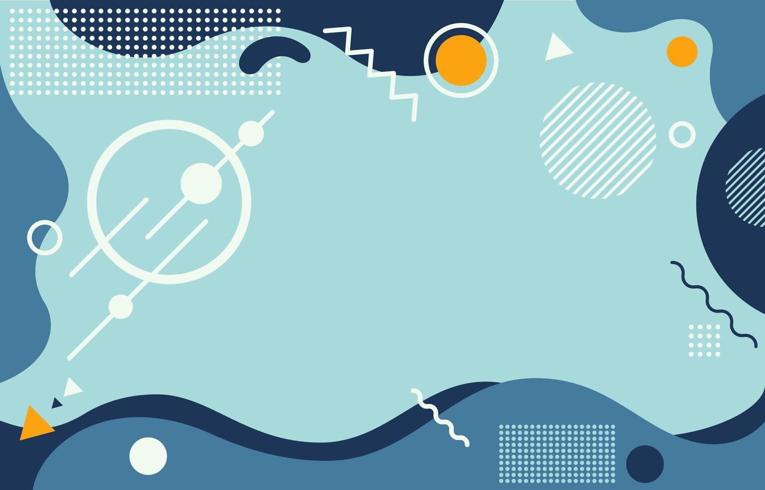 abstrakter Hintergrund mit blauer Welle und orangeem Akzent vektor