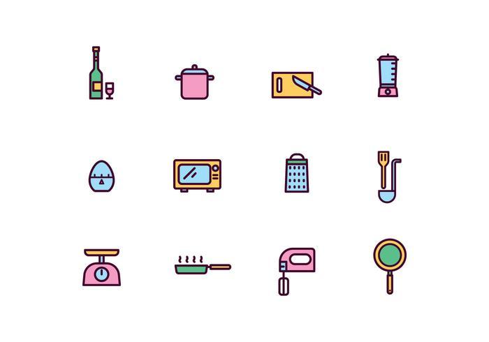Kochen Tools Icons vektor