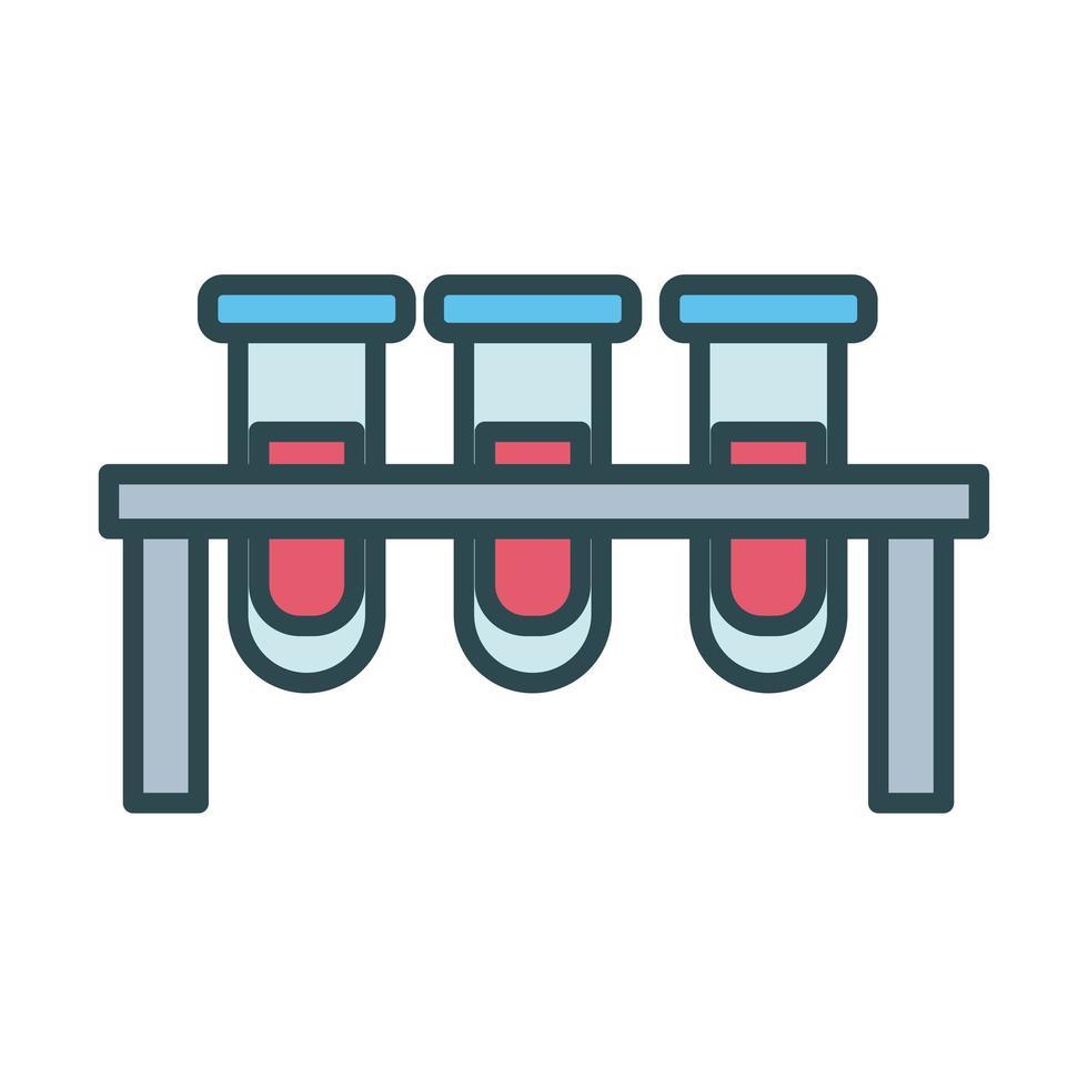 Medizinische Röhrchen Testlabor füllen Stilikone vektor