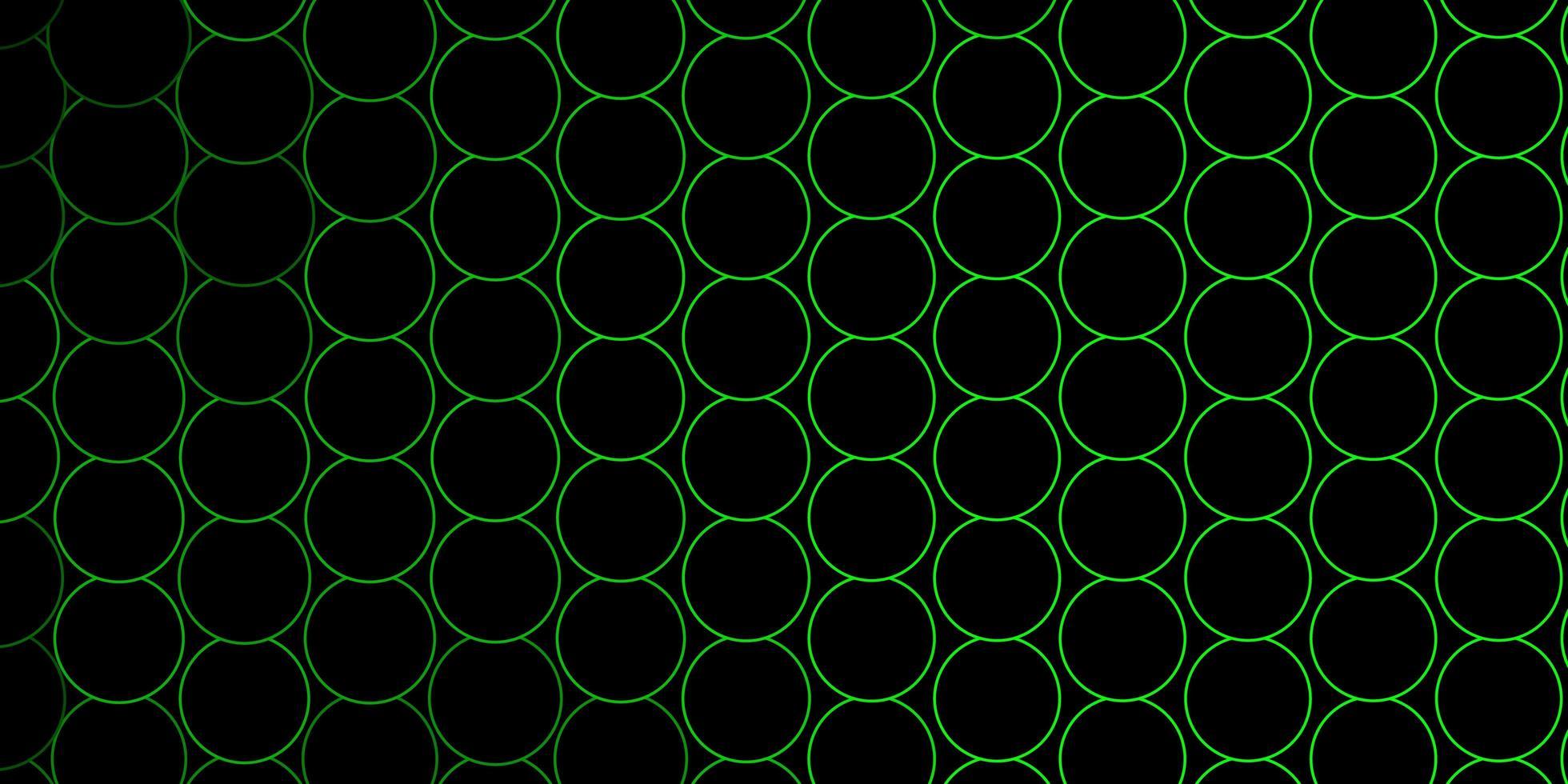gröna konturerade cirklar på mörk bakgrund vektor