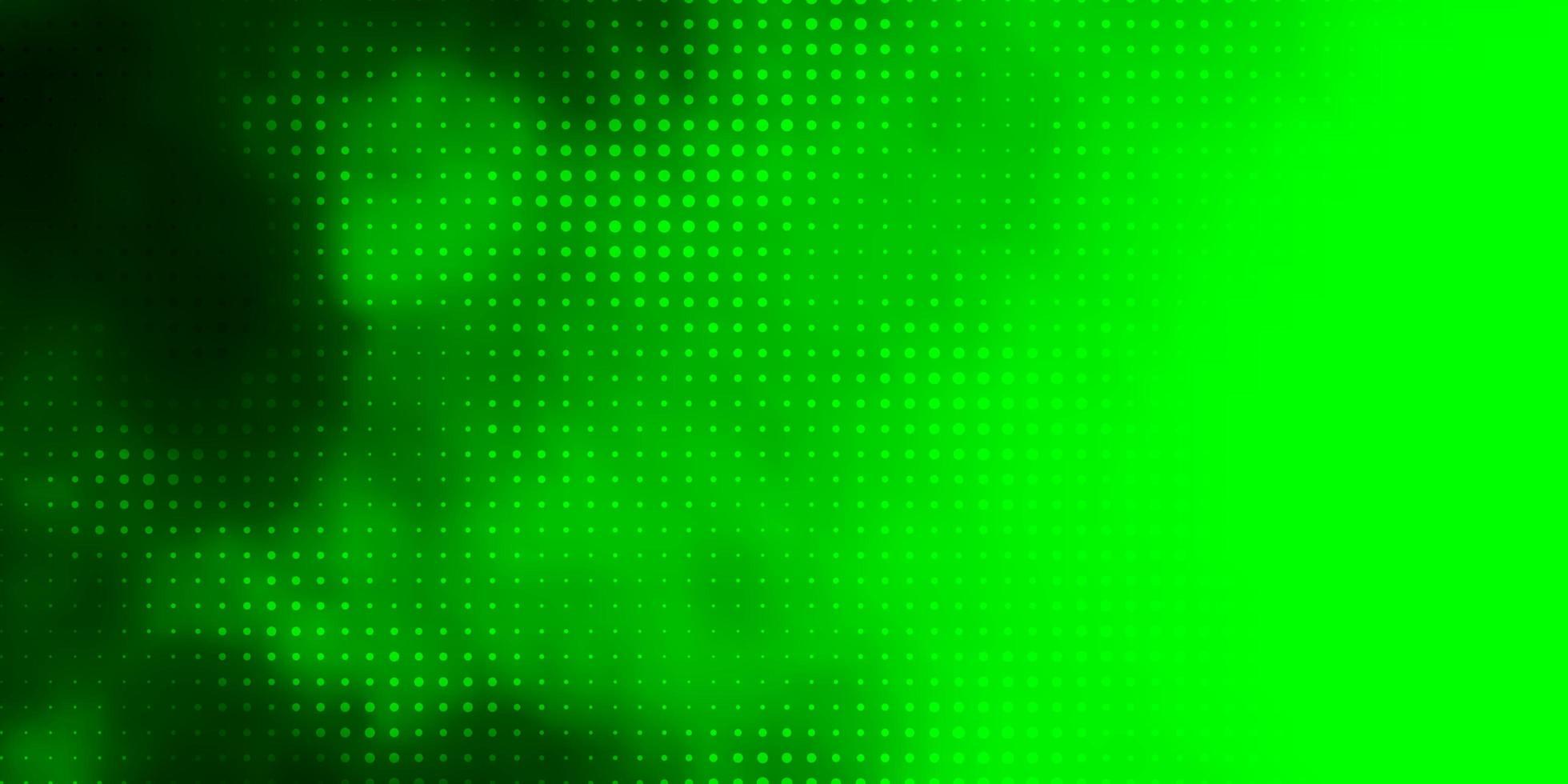 grünes Muster mit Kugeln. vektor