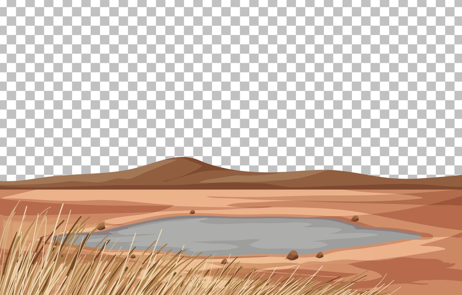 Trockenland Landschaftsszene vektor