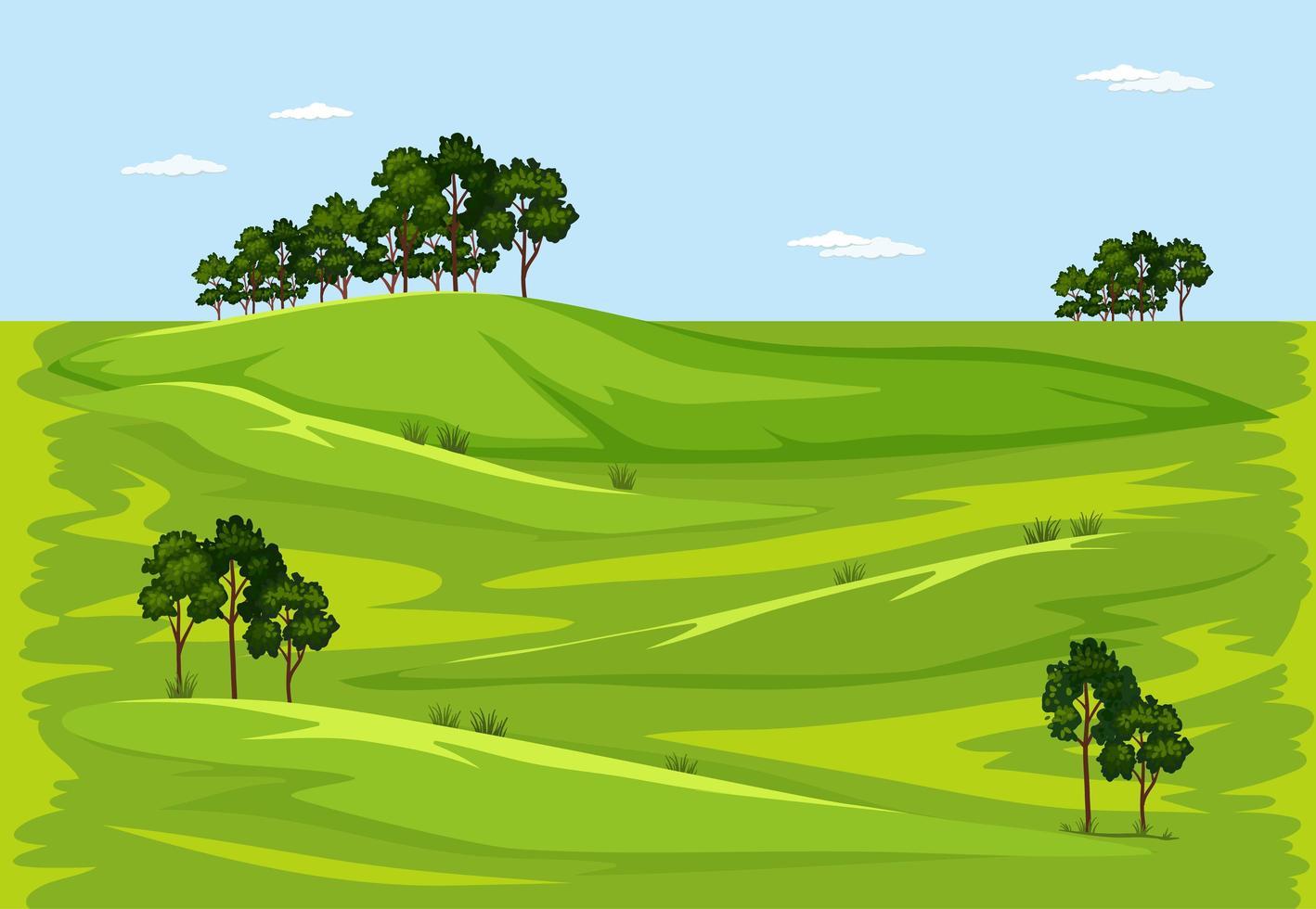 grön natur utomhus landskap vektor